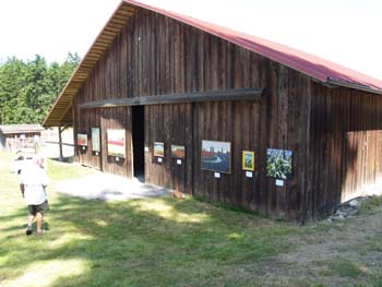 paintings hung on a barn - T.H.Pickett